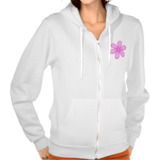 Pink Flower with Stitches Hoodie