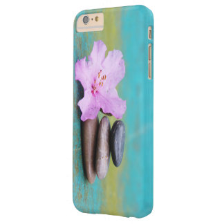 Pink Flower Zen Stones Barely There iPhone 6 Plus Case