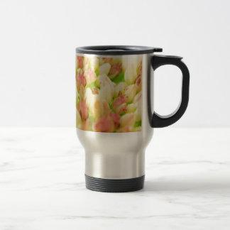 Pink Flowerbed Mugs