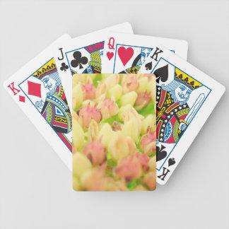 Pink Flowerbed Poker Cards