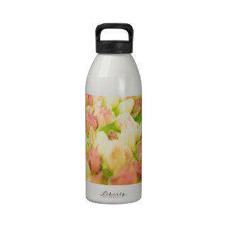 Pink Flowerbed Drinking Bottles