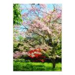 Pink Flowering Dogwood Personalised Invitations