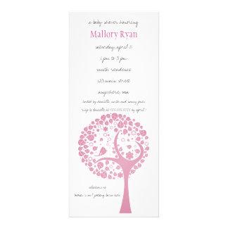 Pink Flowering Tree Baby Shower Invitation