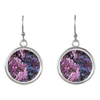 Pink Flowering Tree Earrings