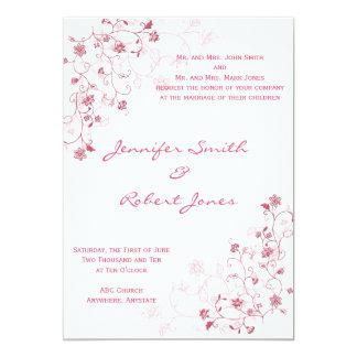 Pink Flowering Vines Invitation
