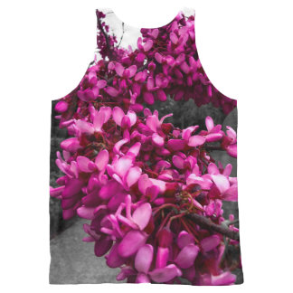 Pink flowers All-Over print tank top