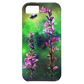 Pink Flowers And Bee Against the World iPhone 5 iPhone 5/5S Covers