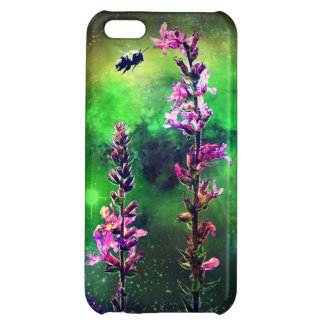 Pink Flowers And Bee Against the World iPhone 5c iPhone 5C Cover