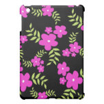 Pink flowers and leaves - iPad case