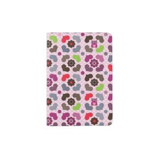 pink flowers and owls pattern passport holder