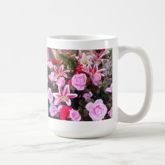 Pink Flowers and Roses: Coffee Mug