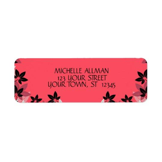 Pink Flowers Avery Label Return Address Label