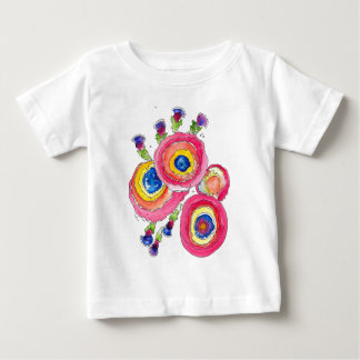 Pink Flowers Baby T-Shirt