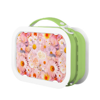 Pink Flowers Bouquet Floral Wedding Bridal Spring Lunch Box