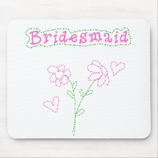 Pink Flowers Bridesmaid Mouse Pad