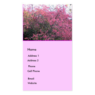 Pink Flowers Business Card Templates