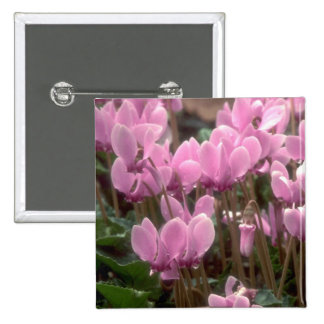 Pink Flowers Button