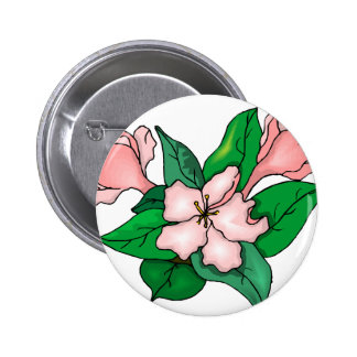 Pink Flowers Buttons