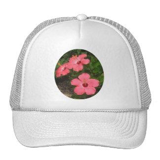 Pink Flowers Trucker Hats