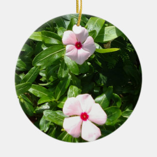PINK FLOWERS CHRISTMAS ORNAMENT