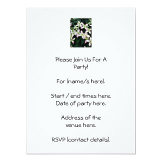 Pink flowers. Clematis. On White. Personalized Invitations