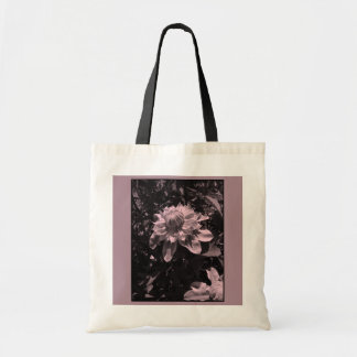 Pink flowers. Clematis. Stylish design. Budget Tote Bag