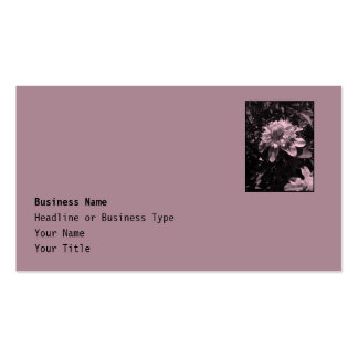 Pink flowers. Clematis. Stylish design. Business Card