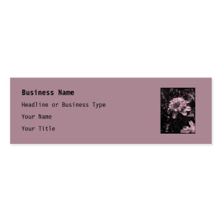 Pink flowers. Clematis. Stylish design. Double-Sided Mini Business Cards (Pack Of 20)