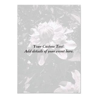 Pink flowers. Clematis. Stylish design. Custom Invitation