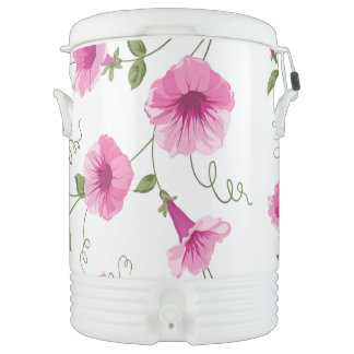 Pink Flowers Cooler