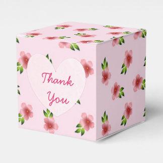 Pink Flowers Cupcake Box Favour Box