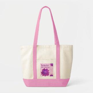 Pink Flowers Custom Name Best Friend Ever G351
