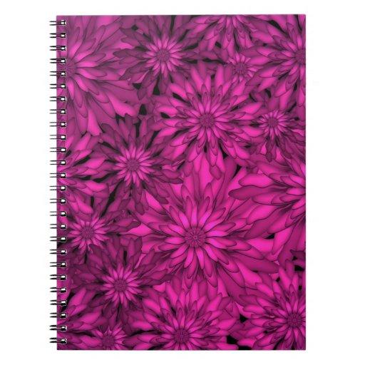 Pink Flowers Digital Art Note Book