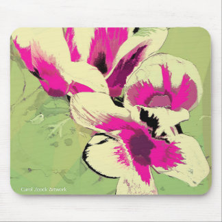 Pink Flowers Digital Image by Carol Zeock Mouse Pad