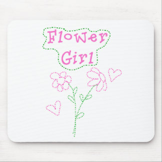 Pink Flowers Flower Girl Mouse Mat