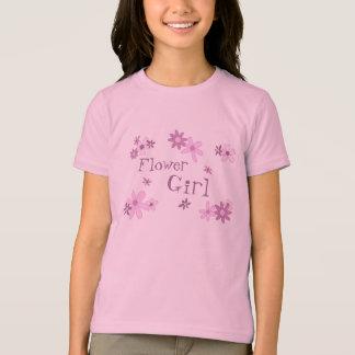 Pink Flowers Flower Girl Wedding T-Shirt