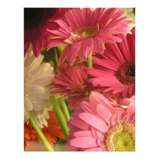 Pink flowers flyer
