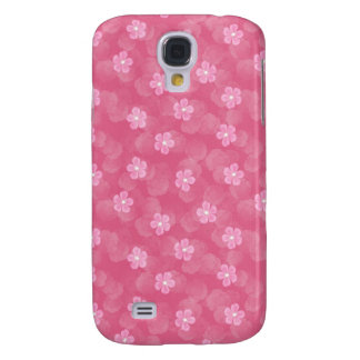 Pink Flowers Galaxy S4 Case