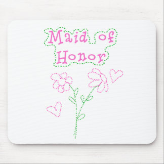 Pink Flowers Maid of Honor Mouse Pads
