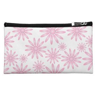 Pink Flowers Makeup Bag