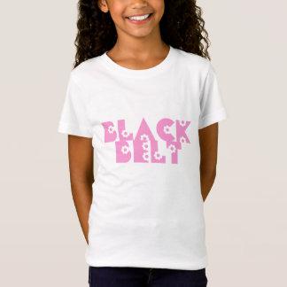 Pink Flowers Martial Arts Black Belt T-Shirt