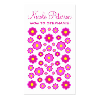 Pink Flowers Mommy Card Business Card Template