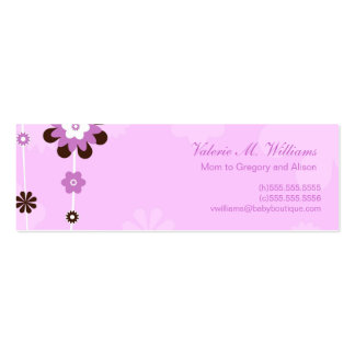 Pink Flowers Mommy Cards Pack Of Skinny Business Cards