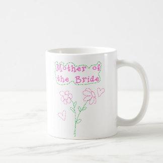 Pink Flowers Mother of Bride Coffee Mug