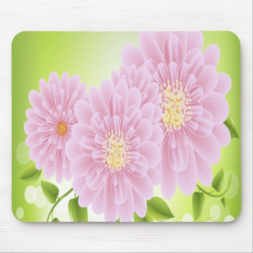 Pink Flowers Mouse Pads