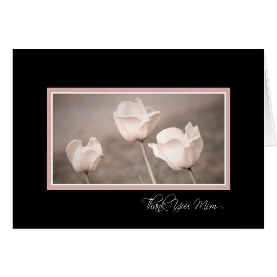 Pink Flowers Mum Wedding Day Thank You Card