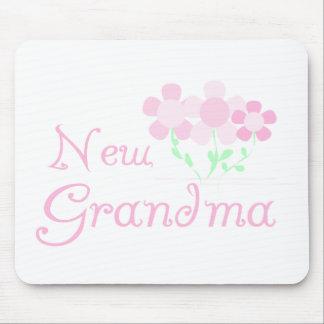 Pink Flowers New Grandma Mouse Mat