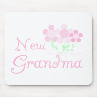 Pink Flowers New Grandma Mouse Pad