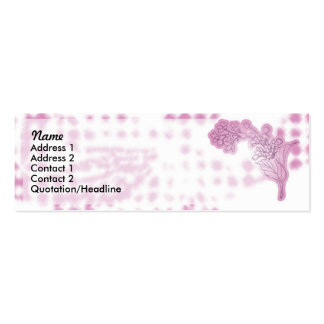 Pink Flowers Pack Of Skinny Business Cards