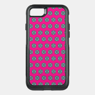 Pink flowers pattern OtterBox commuter iPhone 8/7 case